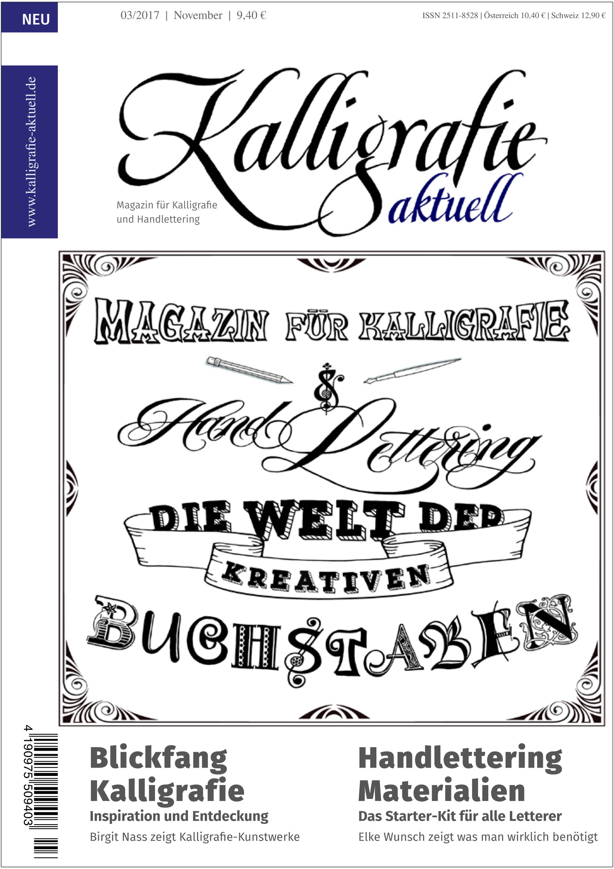3. Ausgabe Kalligrafie aktuell